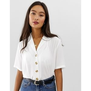 NWT Only Button Through Short Sleeve Top